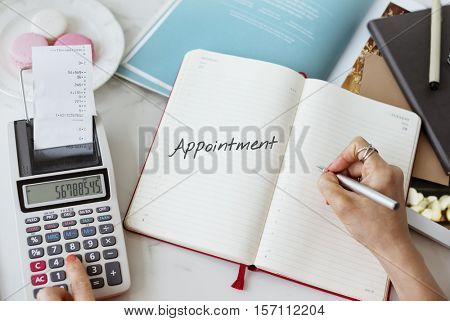 Appointment Agenda Assignment Planning Schedule Concept