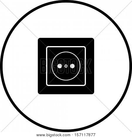 Type C Power Outlet Symbol