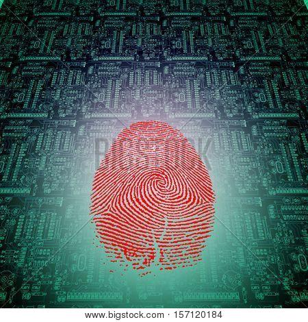 Machine Fingerprint   3D Render