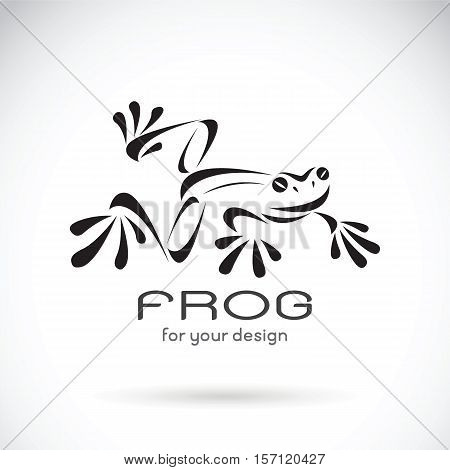 Vector image of a frog design on white background Frog Logo. Wild Animals. Vector illustration.
