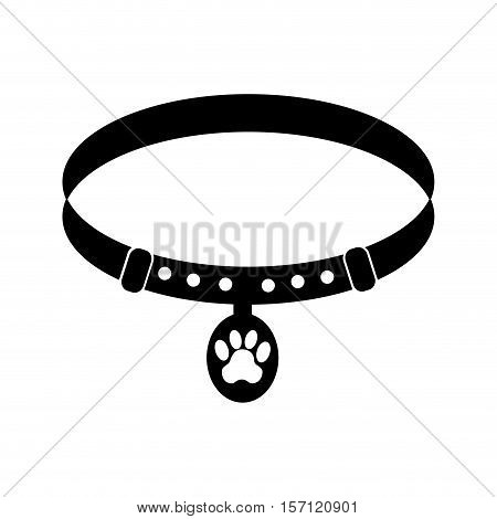 Pet collar isolated icon vector illustration design