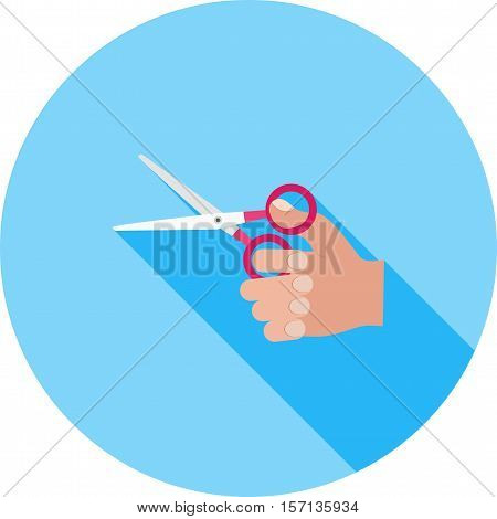 Scissors, sharp, cut icon vector image. Can also be used for hand actions. Suitable for use on web apps, mobile apps and print media.