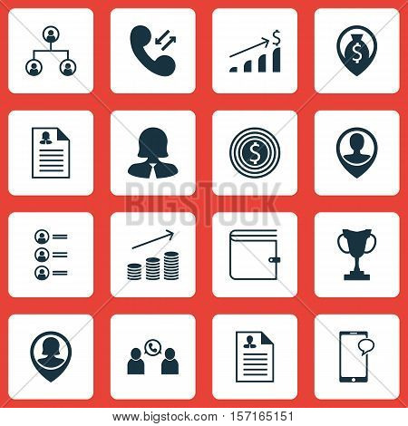 Set Of Hr Icons On Cellular Data, Coins Growth And Job Applicants Topics. Editable Vector Illustrati