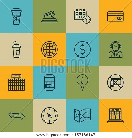 Set Of Transportation Icons On Road Map, Locate And Calculation Topics. Editable Vector Illustration