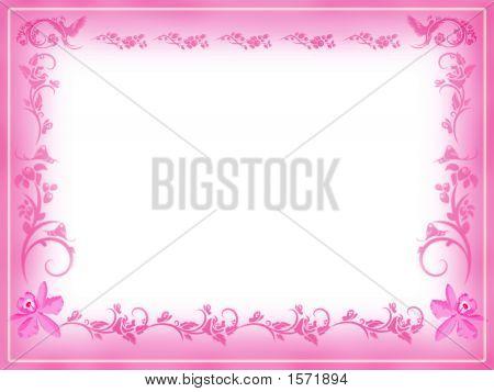 Vintage Floral Frame Note Card