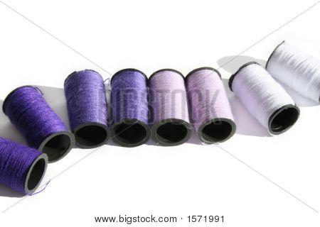 Purple Cotton Reels