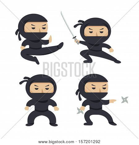 Set of ninja
