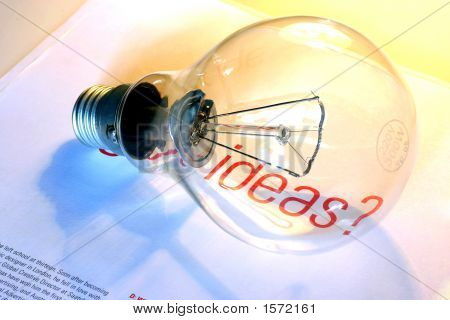 Lightbulb With Ideas