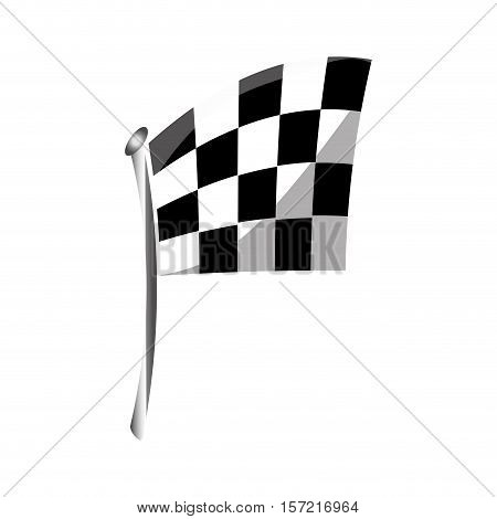 isolated race flag icon vector illustration graphic design