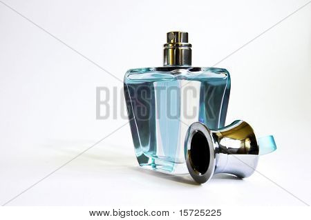 Perfum, toilet water. Blue
