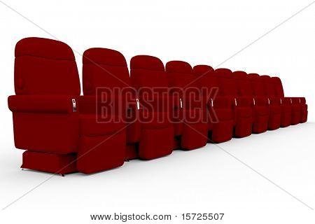 armchair from movie theatre