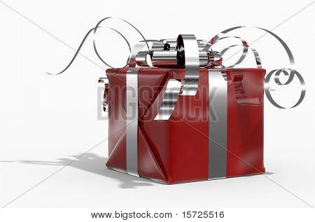 Farbe Geschenk box(red) auf weißem Hintergrund