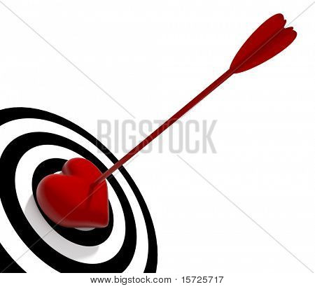 The amazed heart! Valentine day concept.