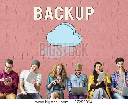 Data Backup Information Technology Concept