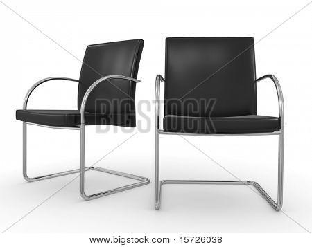 conceito de negócio isolado cadeiras - sala de reuniões-
