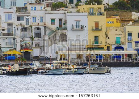 scenic of capri island pier sorrento town mediterranean sea south italy