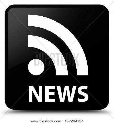 News (RSS icon) on black square button