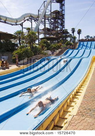 Summer entertainments in an aquapark