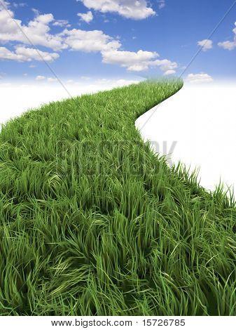 Grünen Weg zum Himmel