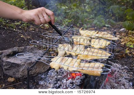 Grilled Fish - Cooking