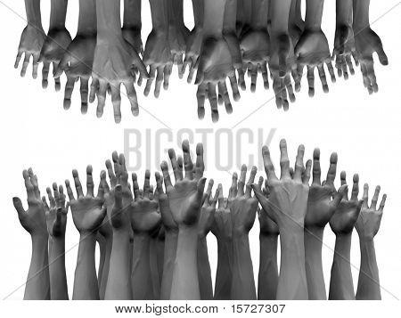 Hilfe-Hände