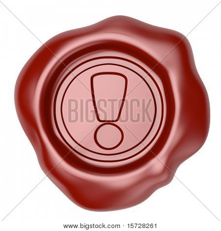 Confirmed. Wax seal with exclamation symbol