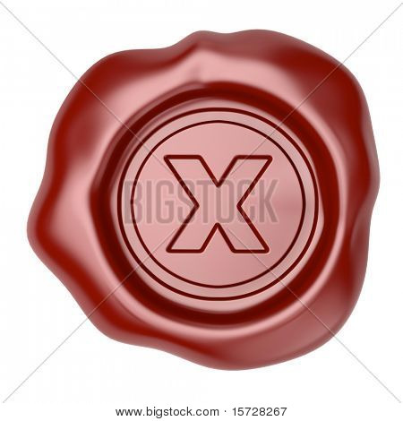 Confirmed. Wax seal with X symbol