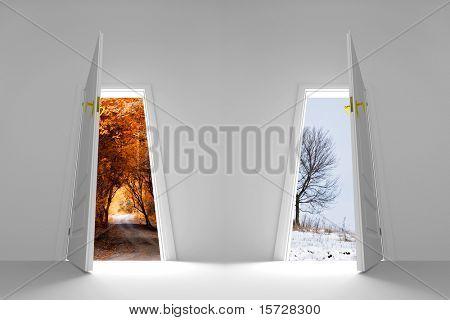 Door to new season. Winter is coming.