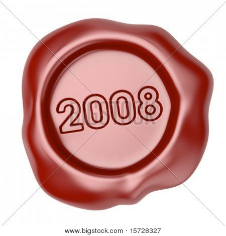 Wax seal with 2008 text - concept