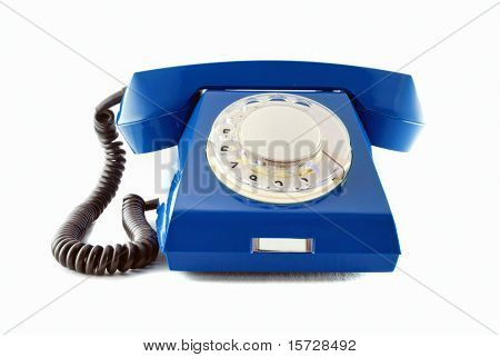 Retro phone - blue