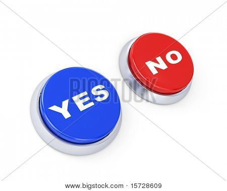 Yes or no buttons. Make the choice