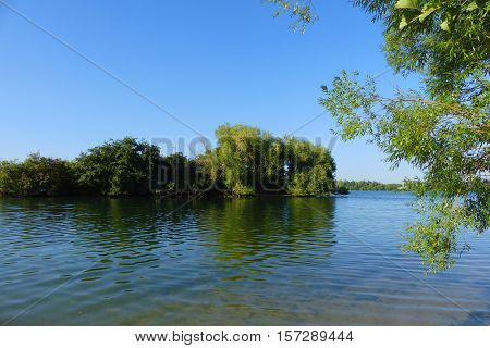 This is a wonderful lake in Zülpich. Zülpich is a small town in Germany.