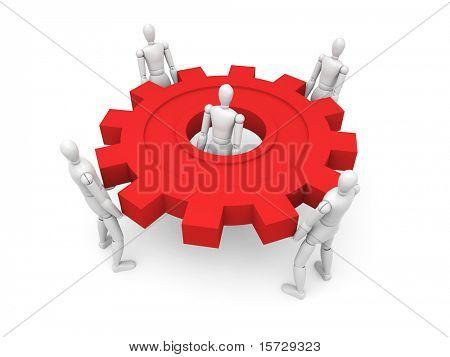 The main part of the mechanism - Teamwork