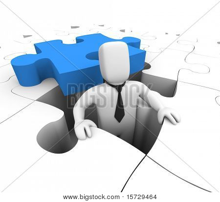 Business concept - isolated on white