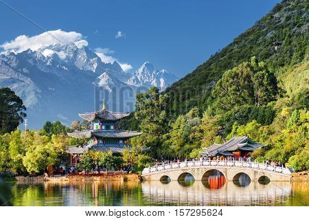 View Of The Jade Dragon Snow Mountain, Lijiang, China