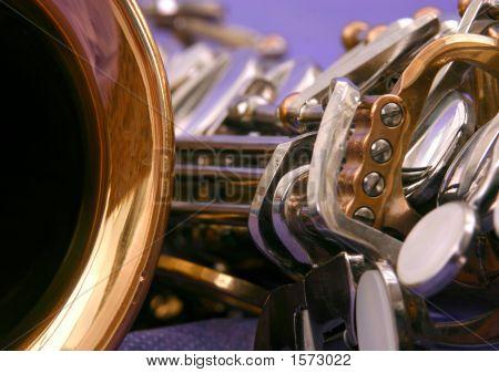 Close Up Of An Alto Saxophone