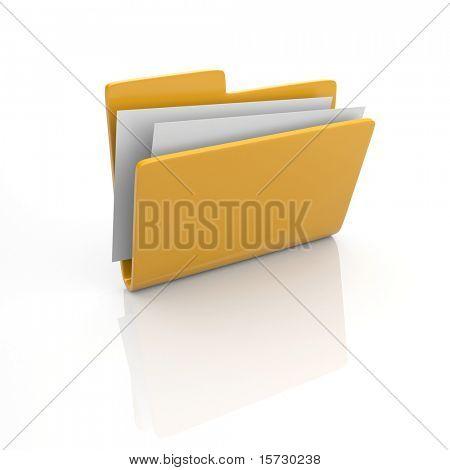 Ícone de pasta 3d