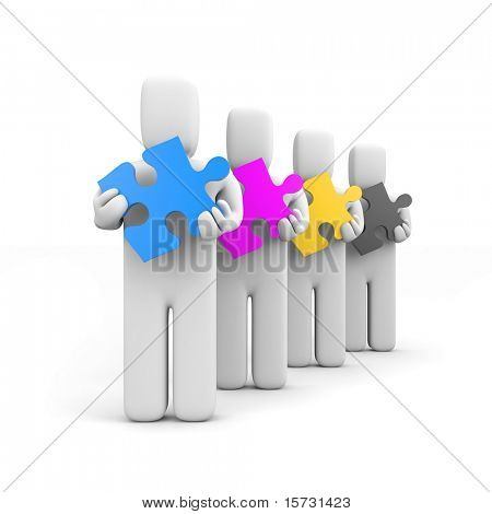 CMYK concept. Conceptual image. Isolated on white