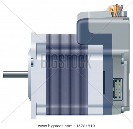 A side view of an electric motor