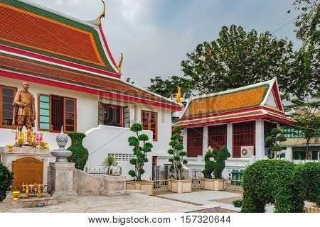 Bangkok, Thailand - January 8, 2016: Wat Mahannapharam Worawiharn - Buddhist Temple located near popular street Khaosan road and district for back packer and budget tourist in Bangkok Thailand