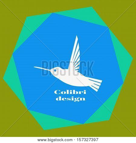 Colibri Logo. Hummingbird Logo Design Template. Vector Illustration For Your Company.