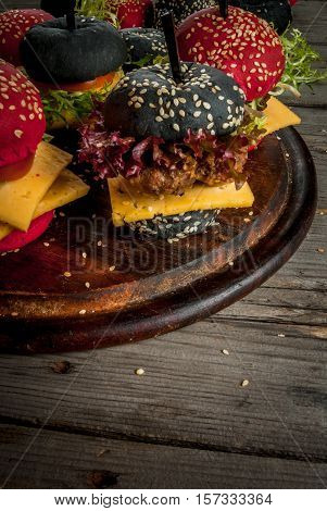 Small American Colored Burgers