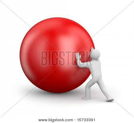 Person push ball