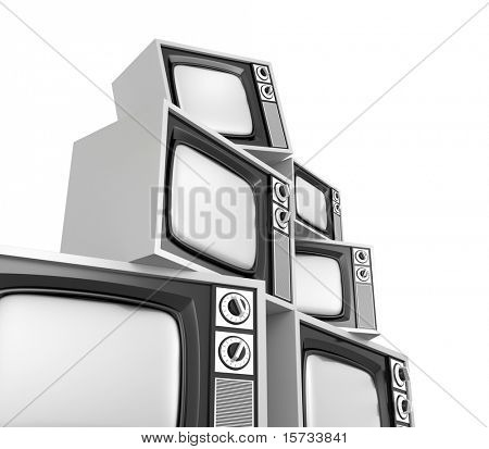 Heap of retro tv