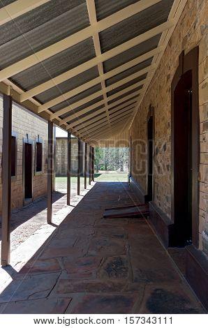 stationmaster residence at historic telegraph station in alice springs australia