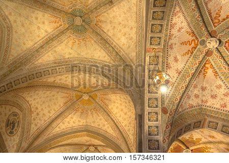 Milan, Italy - November 15, 2016: roof of the church Santa Maria Delle Grazie.