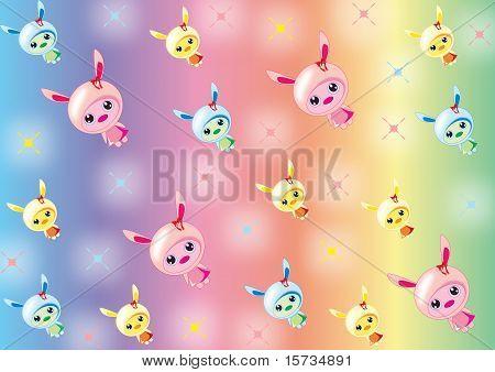 Bunny babies wallpaper
