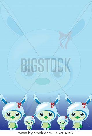 Bunny Blue Wallpaper