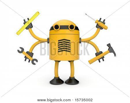 Robot werknemer