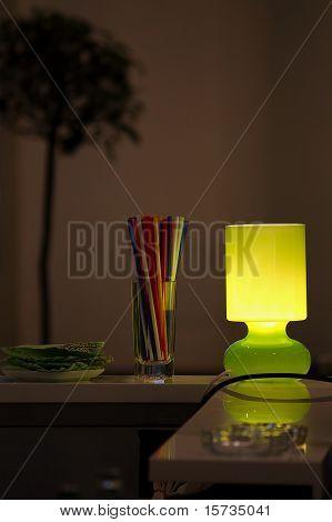 Lamp In The Bar .